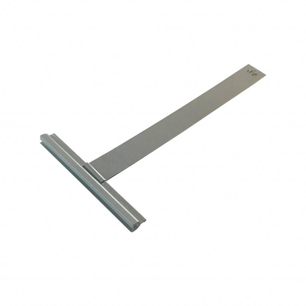 Siral Ophangveer rolluik, lengte 171 mm, mini-E profiel, stevige borgclip en kunststof coating