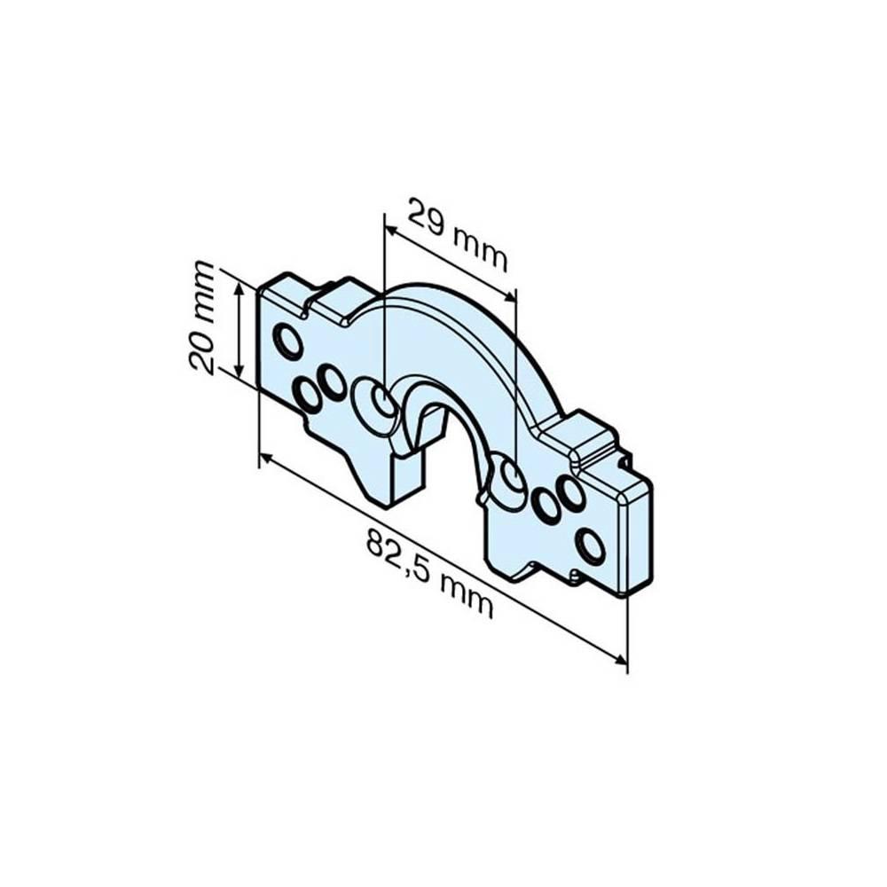 Becker Aansluitelement B-lip R - R serie motoren