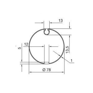 Huismerk Adaptieset knikarmscherm Ø 78 mm doekgleuf