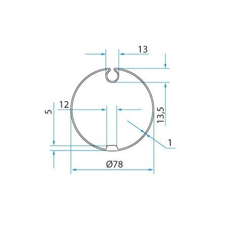 Faac Adaptieset Ø 78 met doekgleuf - TM2 45