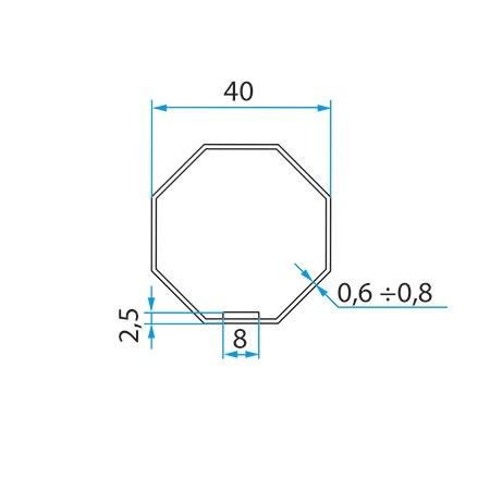 Faac Adaptieset 8 kant 40 - TM2 35