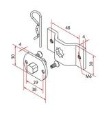 Faac Motorsteun TM2 35 - motornok 10 mm + bevestigingsbeugel