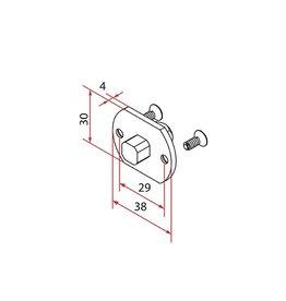 Faac Motorsteun TM2 35 - motornok 10 mm