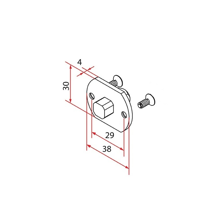 Faac Motornok TM2 35 - 10 mm