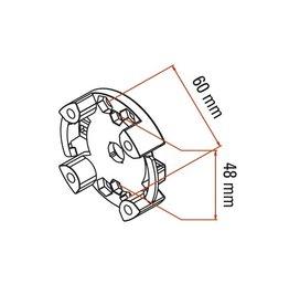 Faac Motorsteun TM2 45 - universeel < 30 Nm