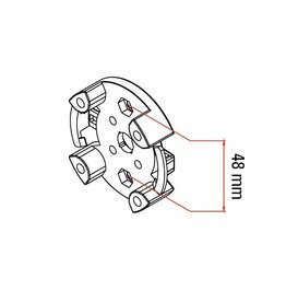 Faac Motorsteun TM2 45 - universeel < 50 Nm