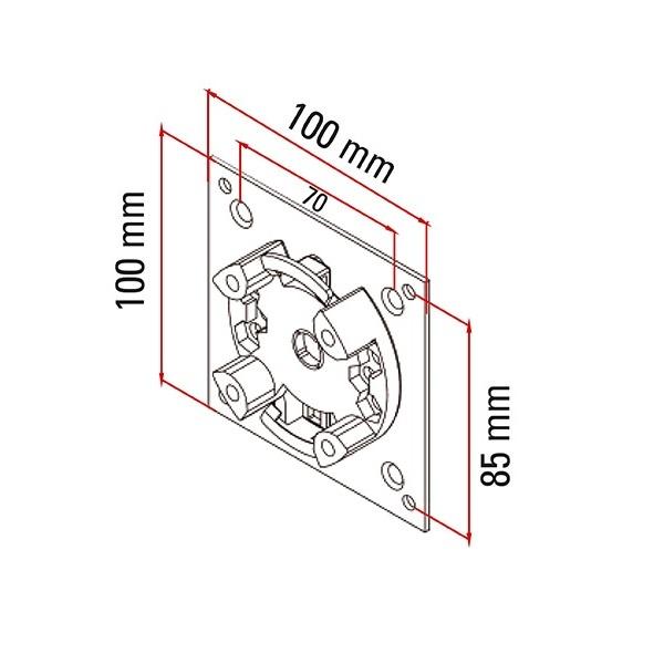 Faac Motorsteun TM2 45 - stalen plaat 100x100