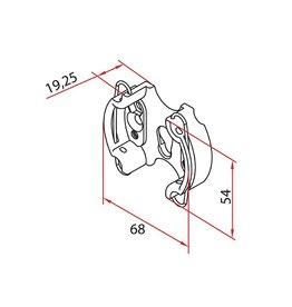 Faac Motorsteun TM2 45 - metaal met clip