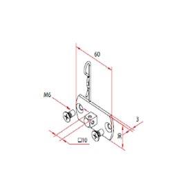 Faac Motorsteun TM2 45 - motornok 10 mm