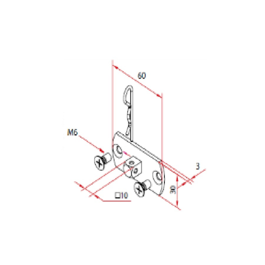 Faac Motornok TM2 45 - 10 mm
