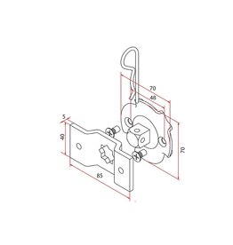 Faac Motorsteun TM2 58 - motornok 16 mm + bevestigingsbeugel