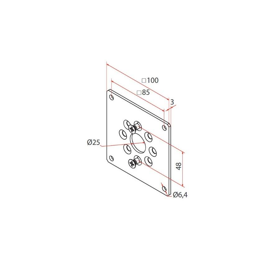 Faac Motorsteun TM2 58 - universeel 100x100