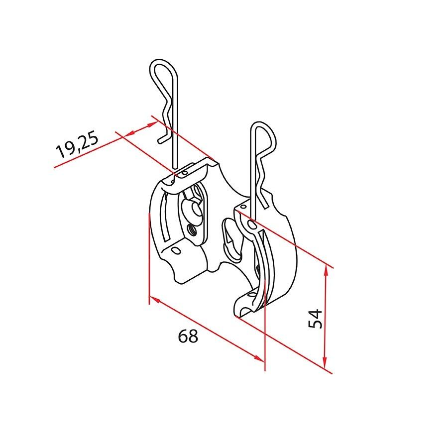 Faac Motorsteun TM2 58 - metaal met clips