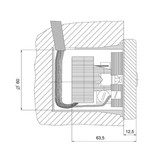 Geba Sleutelschakelaar inbouw, incl halve europrofiel cilinder