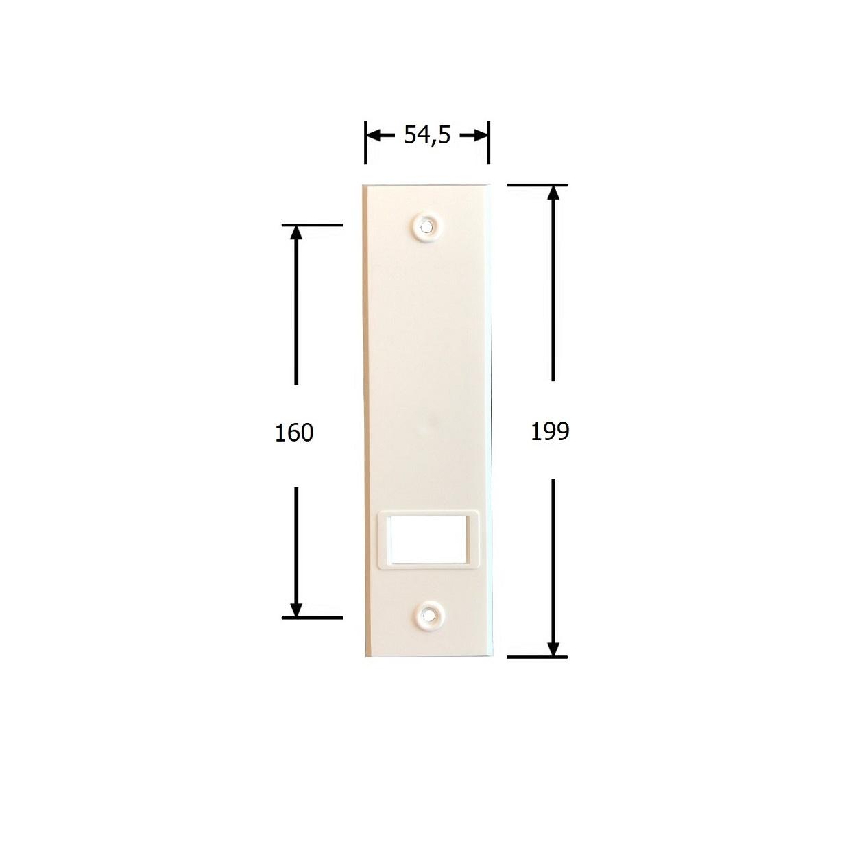 Selve Bandopwinder inbouw, 12 mtr, dekplaat 199x54 mm, kleur wit