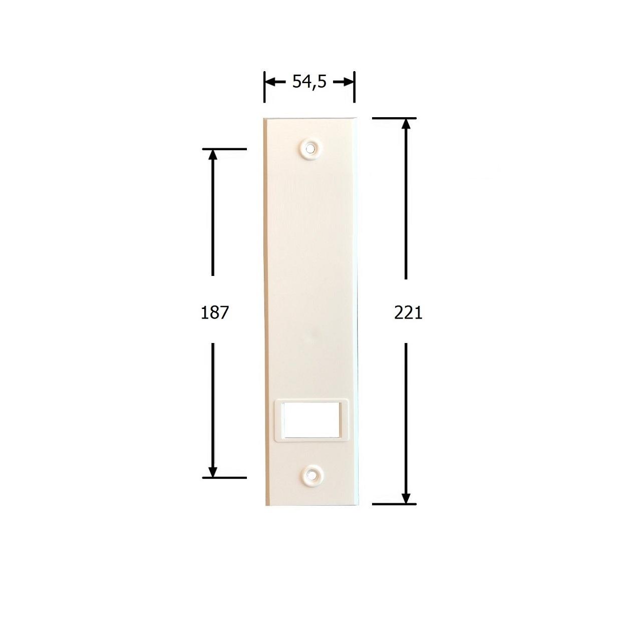 Selve Bandopwinder inbouw, 13,5 mtr, dekplaat 221x54 mm, kleur wit
