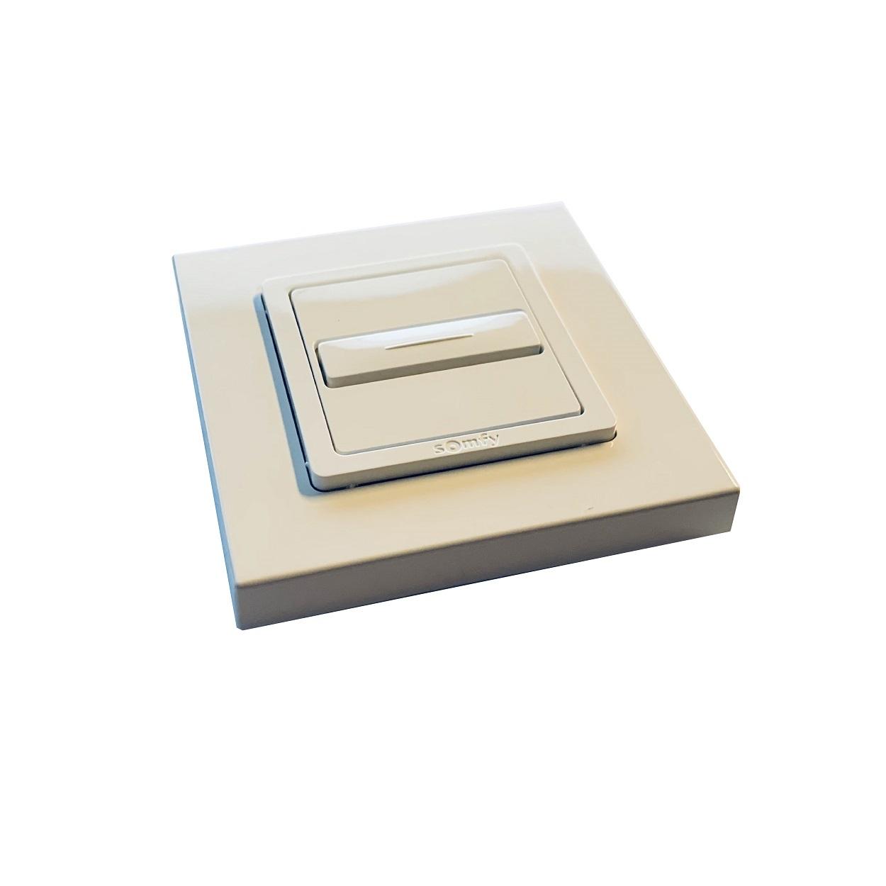 Somfy Inbouw drukknop Smoove Uno met automatisch nulpunt