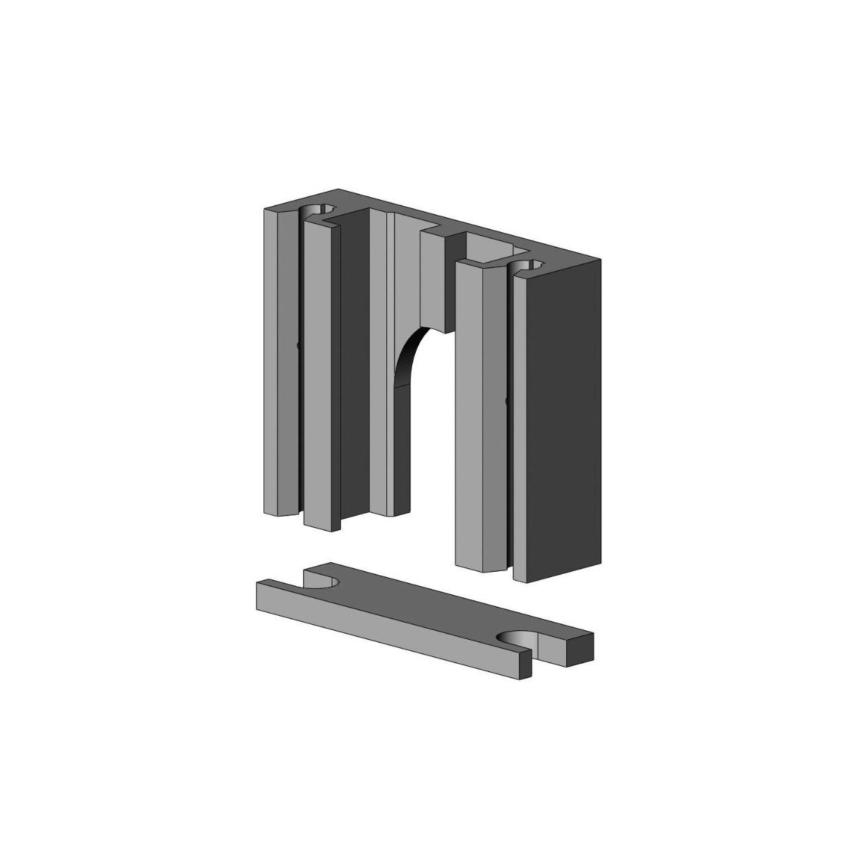 Aluminium lagerblok