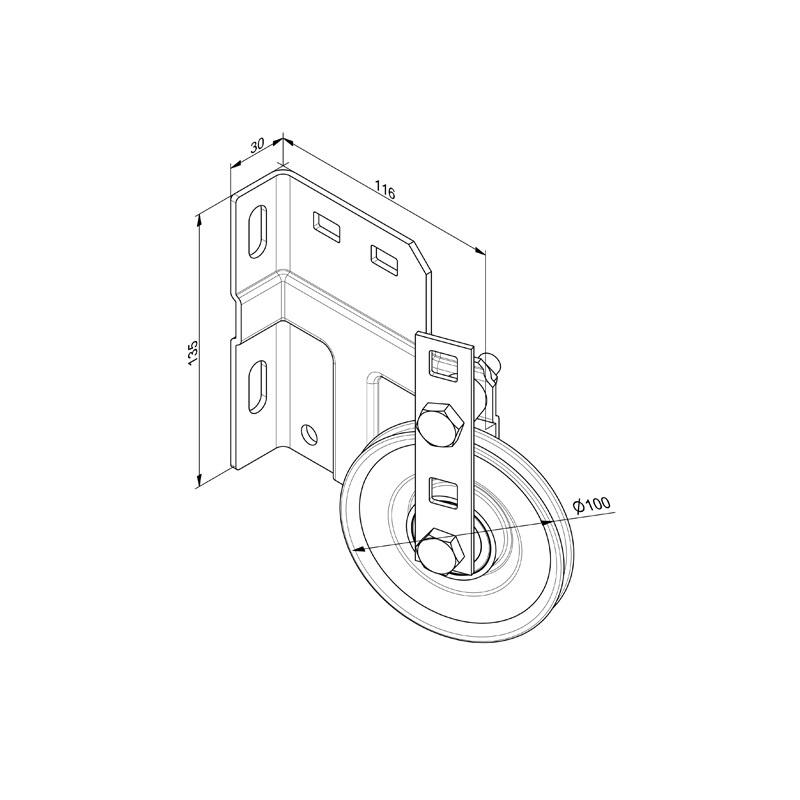 Huismerk Kabelhefconstructie voor hoog systeem