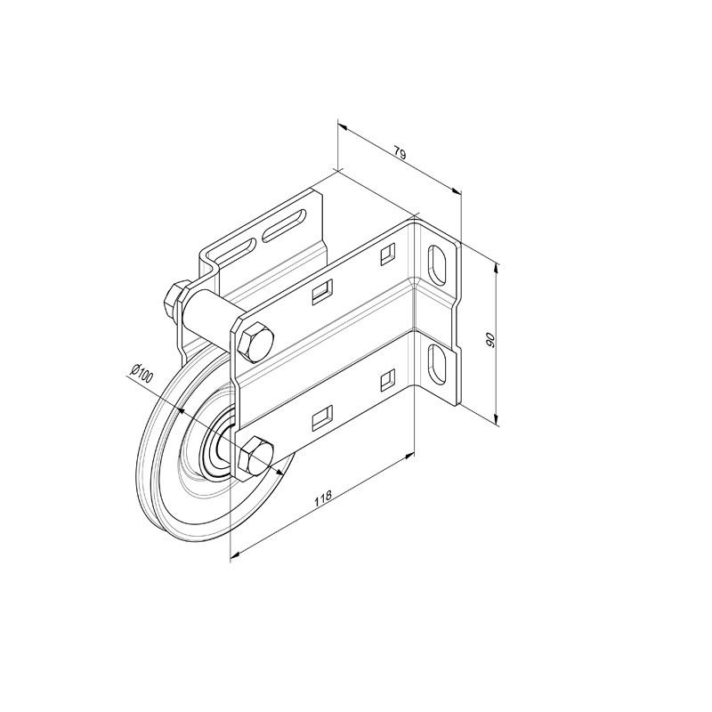 Huismerk Kabelhefconstructie voor verticaal systeem