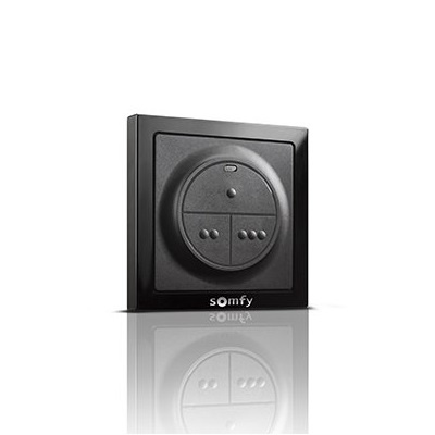 Somfy Smoove io 3-kanaals wandzender - zwart