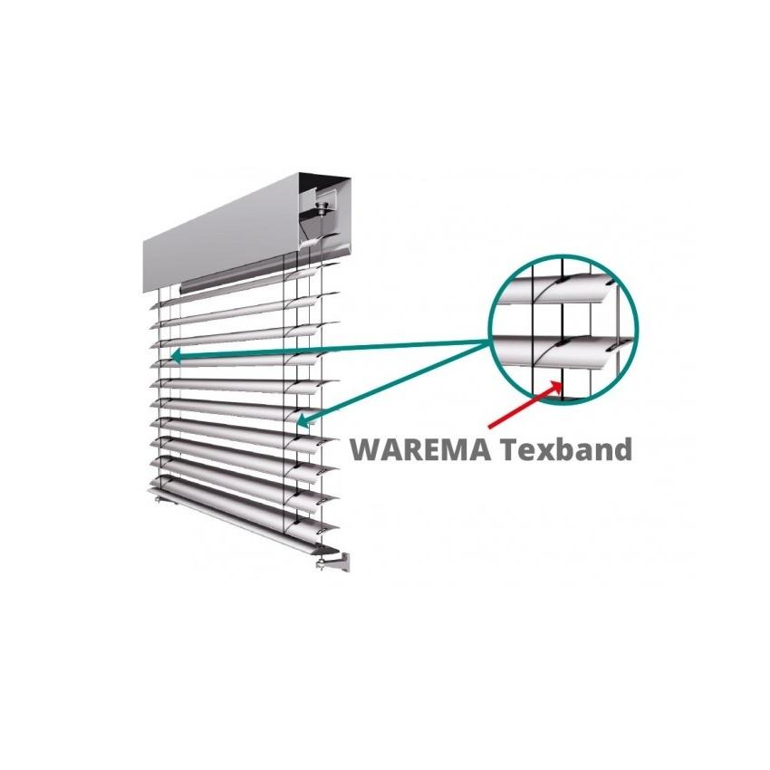Warema Tex-band 6x0,33 mm, zwart