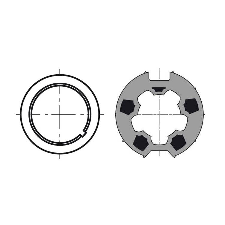 Somfy Adaptieset Ø 63 mm met doekgleuf - LT50 en T5