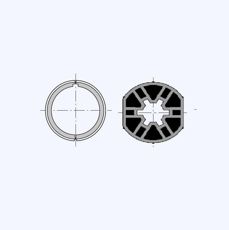 Simu Adaptieset voor as Ø 40x1,5 mm voor Somfy LT40 & Simu T3.5