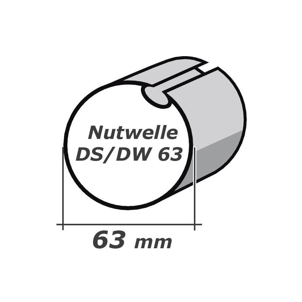 Selve Adaptieset Ø 63x1 met doekgleuf voor type 2 buismotor