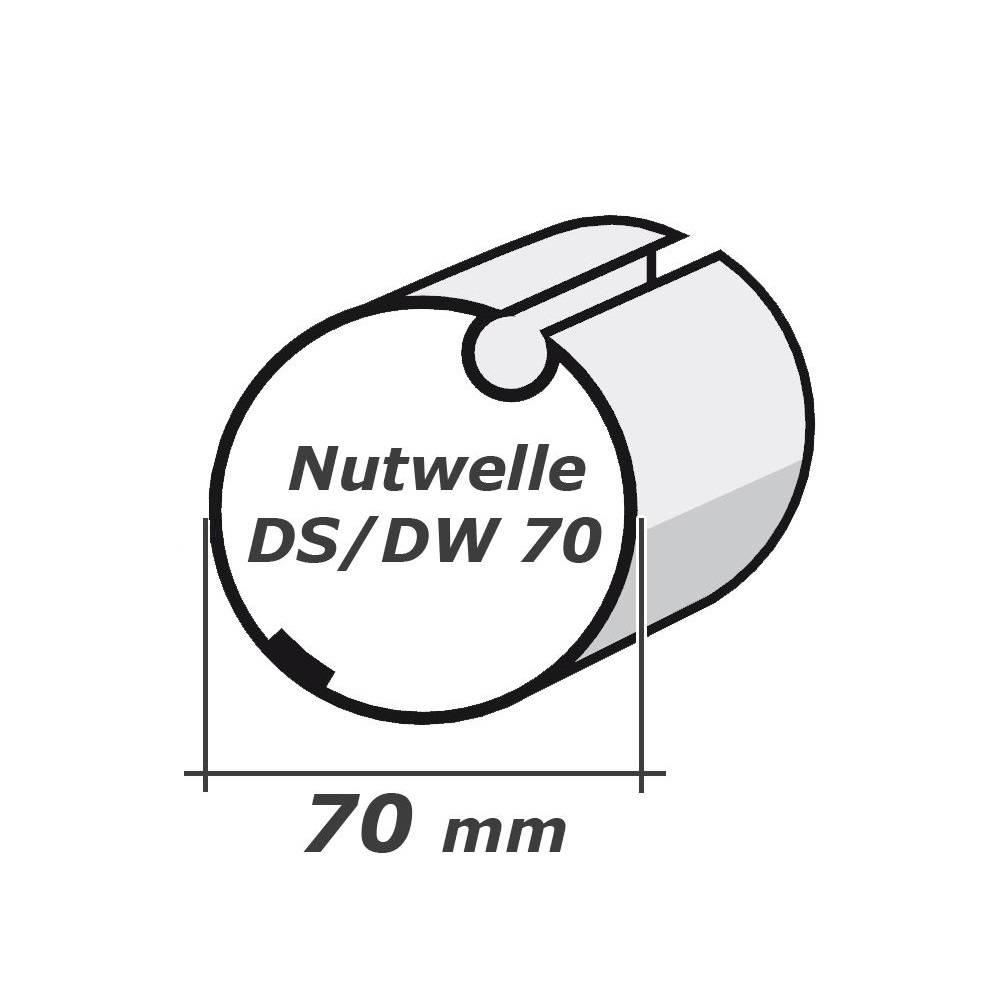 Selve Adaptieset Ø 70x1,5 met doekgleuf voor type 2 buismotor