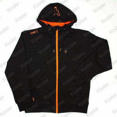 FOX Black Orange Heavy Lined Hoody