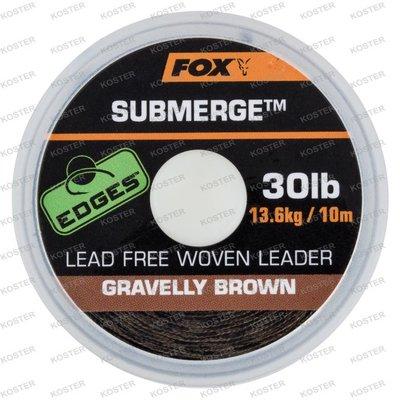 FOX EDGES Submerge Lead Free Leader Brown