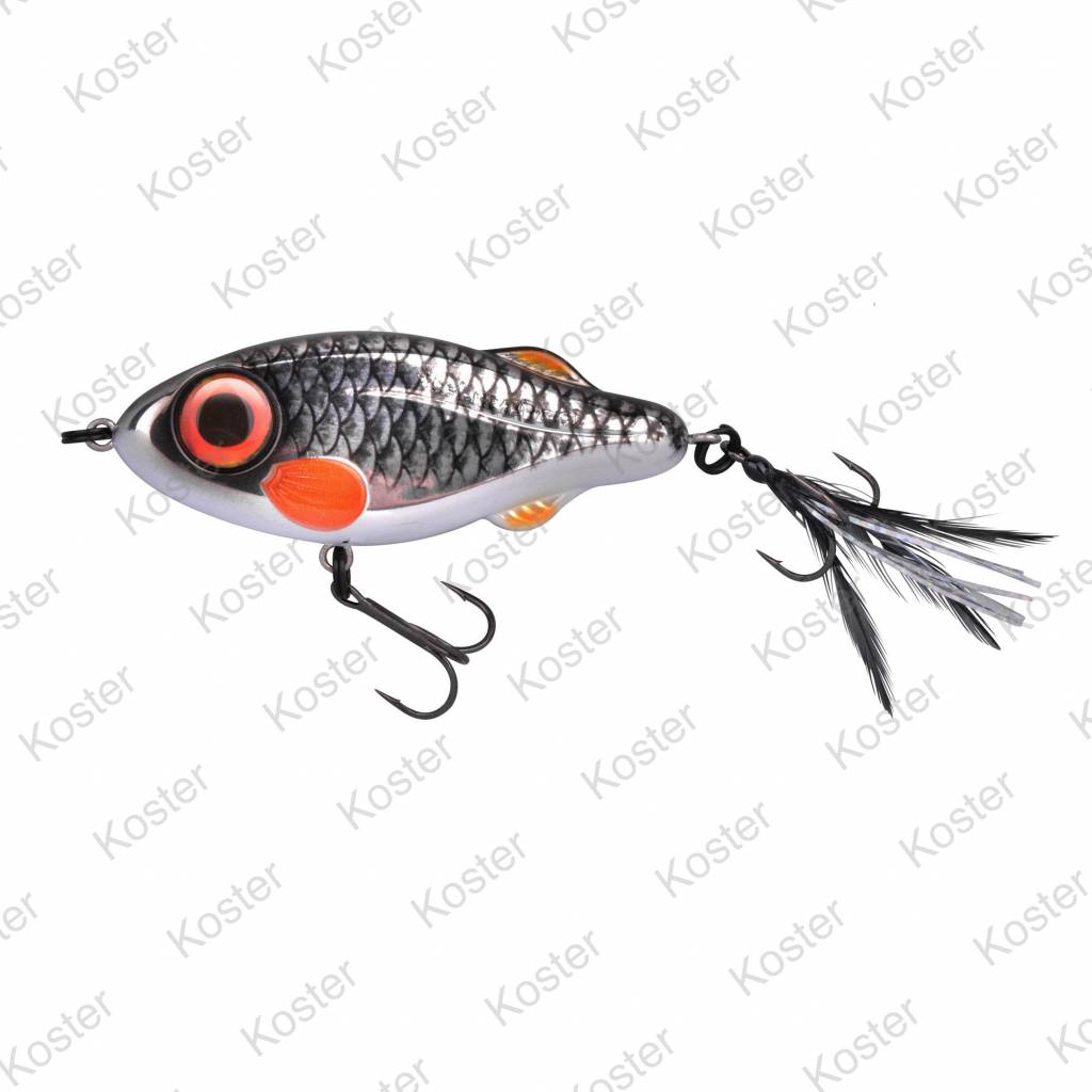 Spro IRIS Flash Jerk 9,5cm 37g Firetiger Redhead Roach Perch Trout Rudd Mackerel