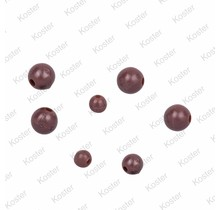 Rubber Beads - Brown