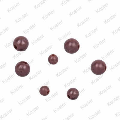 C-TEC Rubber Beads - Brown