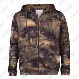 Kostra Fishouflage Thermal Hooded Full Zip Fleece Jacket