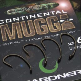 Gardner Covert Continental-Mugga Hooks Barbed