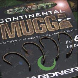 Gardner Covert Continental-Mugga Hooks Barbed