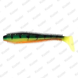 Rage Spikey Shad Fire Tiger 6-9cm