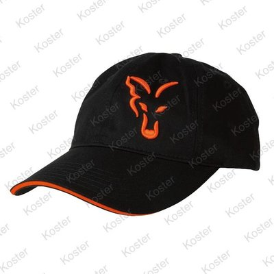 FOX Black/Orange Baseball Cap
