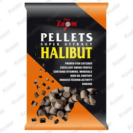 Carp Zoom Feeding Black Halibut Pellet 6mm