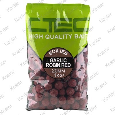 C-TEC Garlic Robin Red Boilies 20 mm. 1 kg.