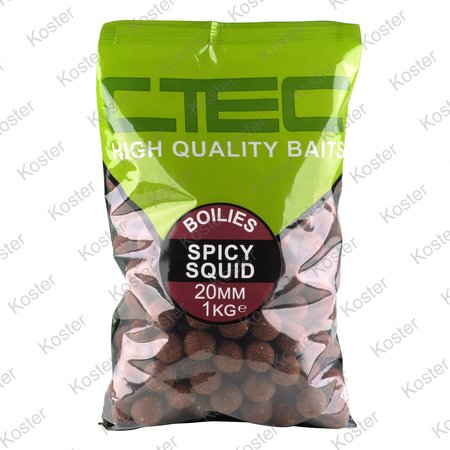 C-TEC Spicy Squid Boilies 20 mm. 1 kg.
