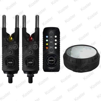 Sonik Gizmo Bite Alarms 2+1 (R+Y) + Bivvy Light