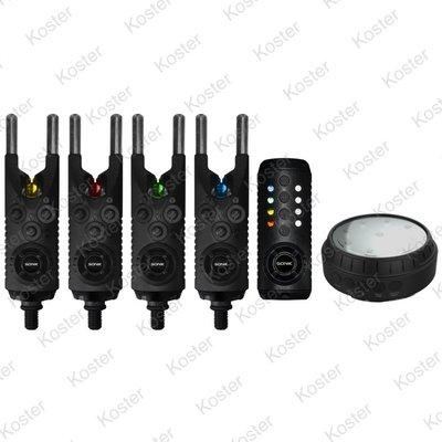 Sonik Gizmo Bite Alarms 4+1 (R+Y+G+B) + Bivvy Light