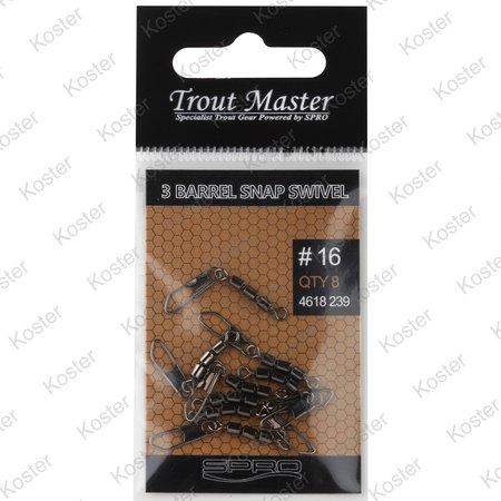 Spro Trout Master 3 Barrel Snap Swivel