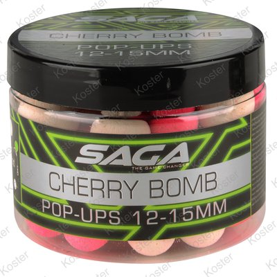 Strategy Baits Saga Cherry Bomb Pop-ups 12&15mm.