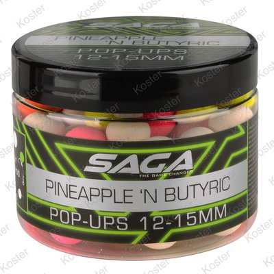 Strategy Baits Saga Pineapple & Butyric Pop-ups 12&15mm.