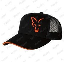 Black/Orange Trucker Cap