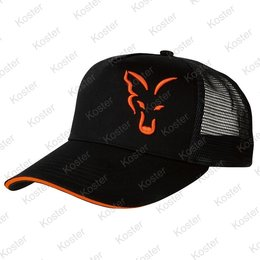 FOX Black/Orange Trucker Cap